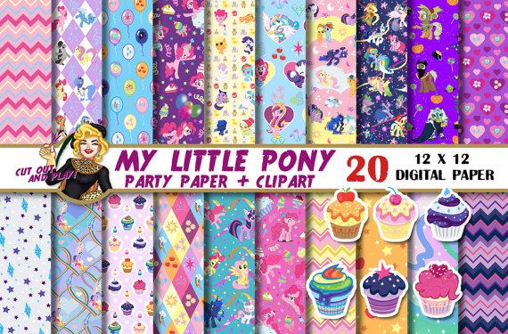 My Little Pony clipart digital Pony My paper My paper