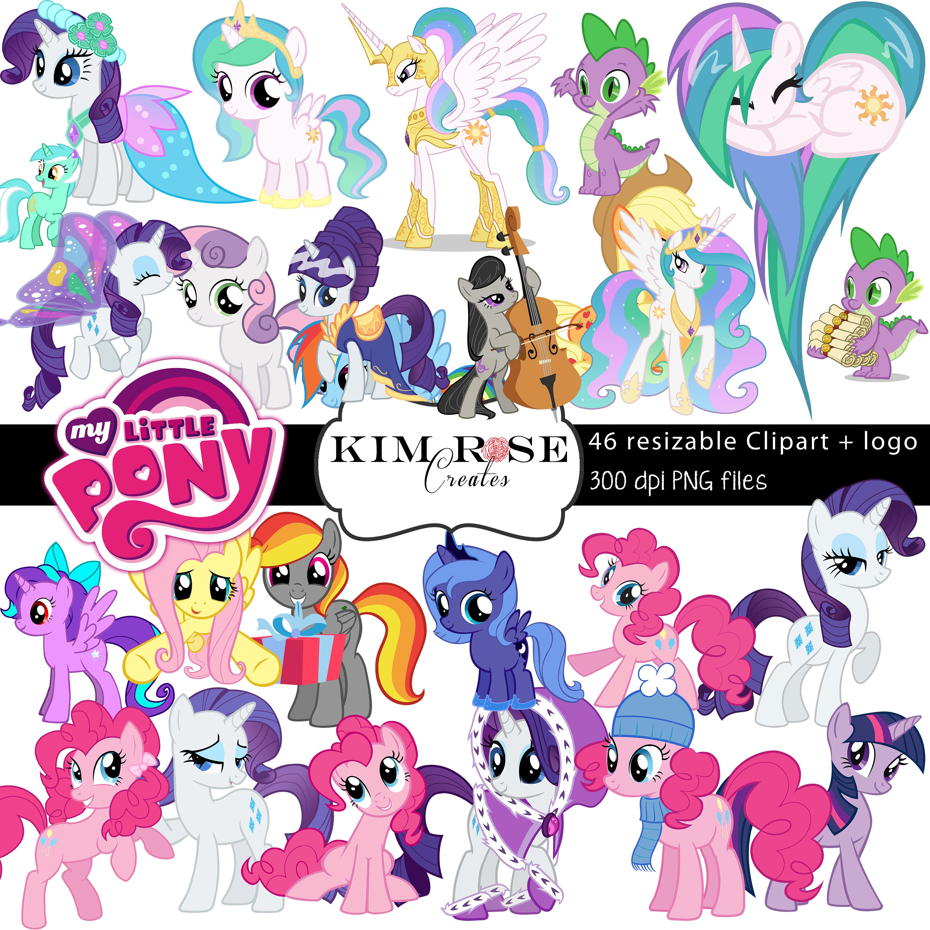 My Little Pony clipart digital A HUGE file  My