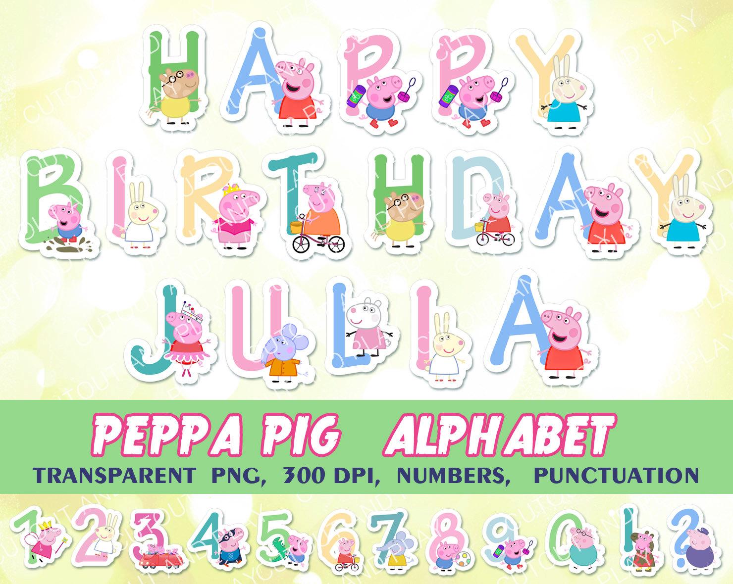 My Little Pony clipart digital Alphabet Party Pony decorations birthday