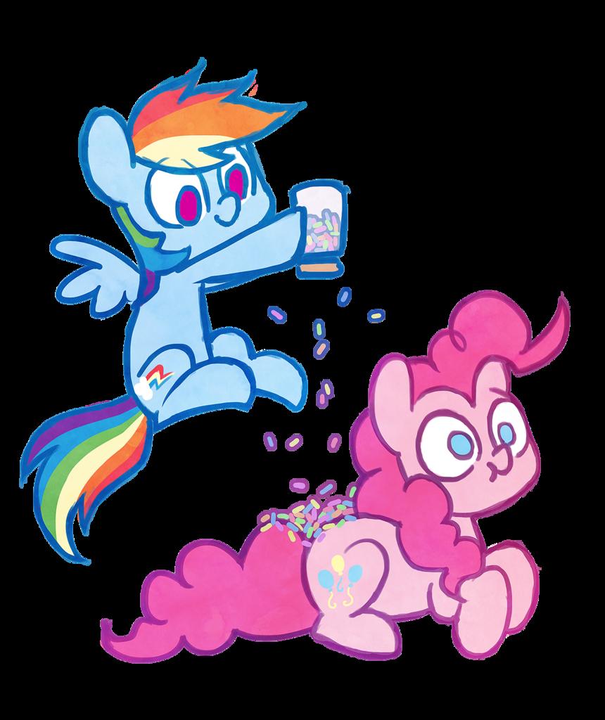 My Little Pony clipart flutter Artist:celebi interpretation PonyRainbow PiePony DashMy