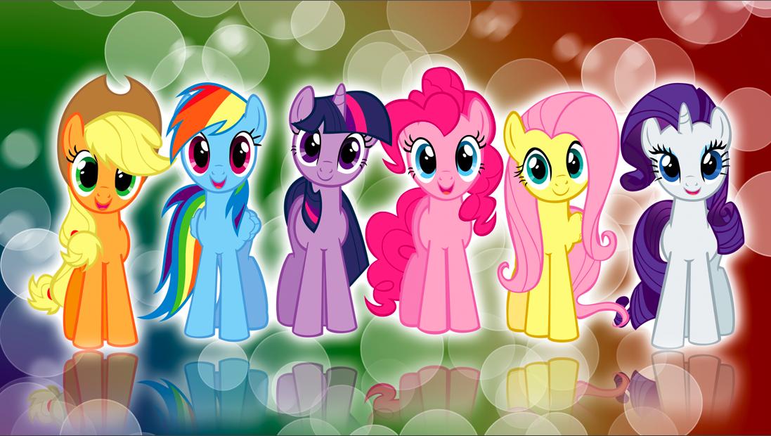 My Little Pony clipart group friend Preguntándose de My Feria Little