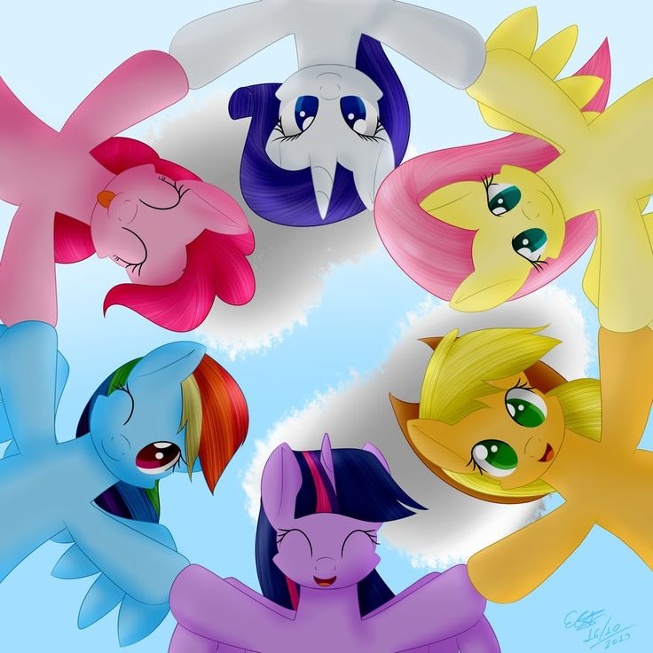 My Little Pony clipart group friend MLP: forever Lil images six