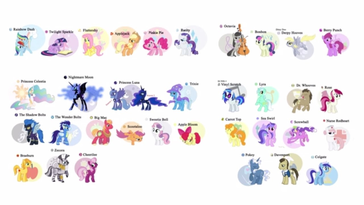 My Little Pony clipart old version Pony names of Names My