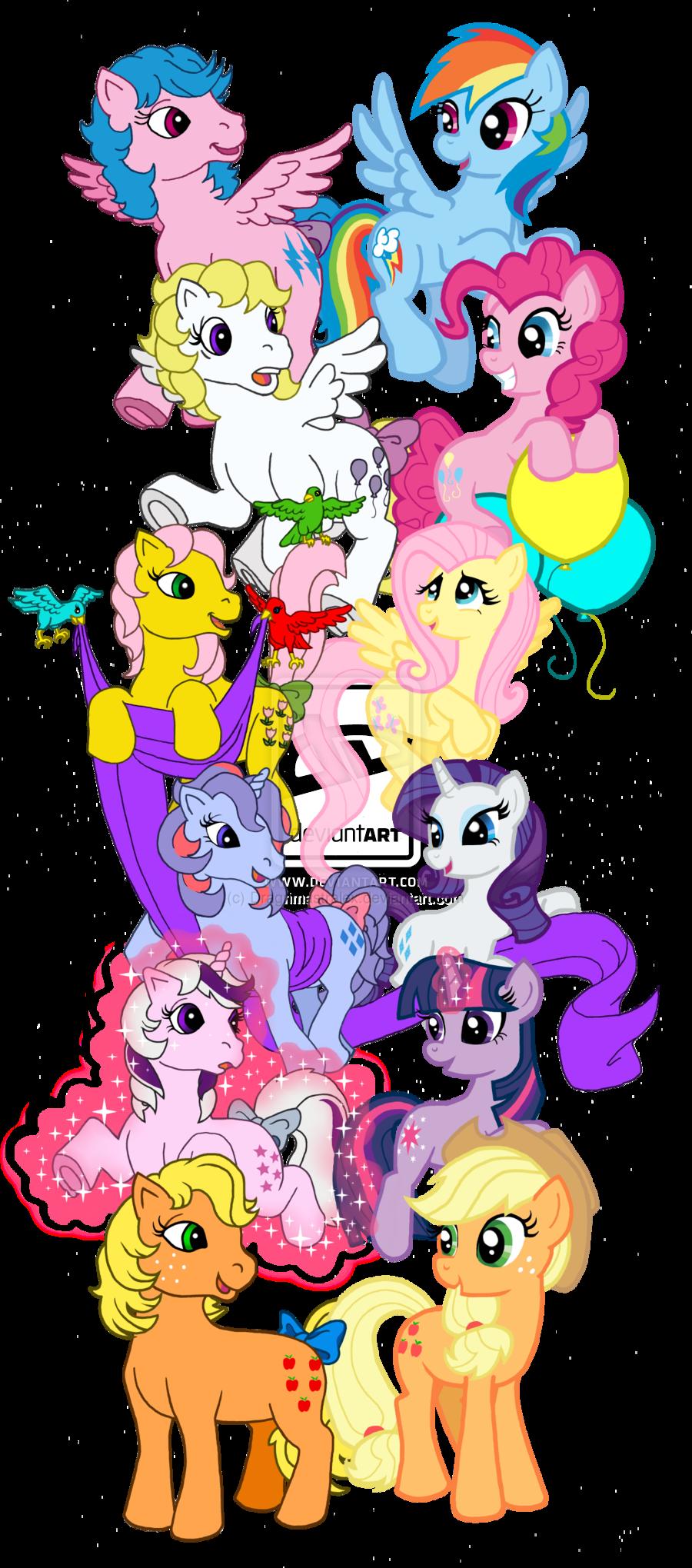 My Little Pony clipart old version PONY : FRIENDSHIP VS MY
