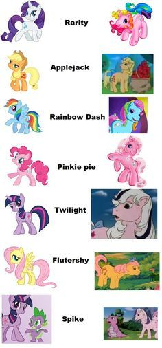 My Little Pony clipart old version Little Маленький by Ponies Main