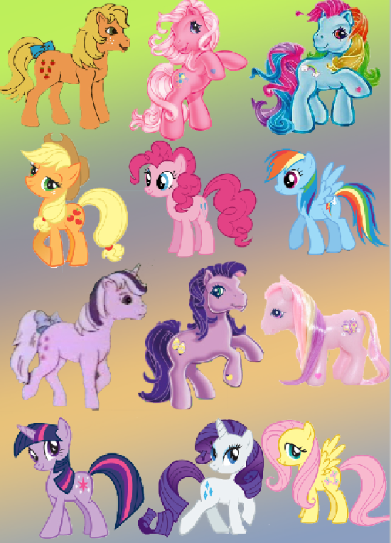 My Little Pony clipart old version New Pony and My old