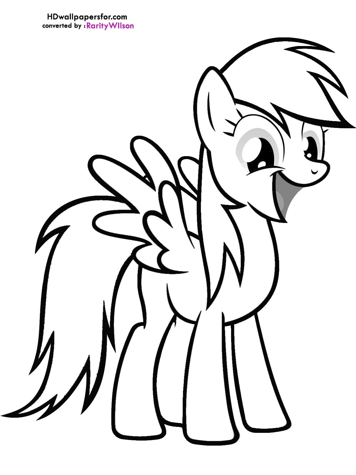 My Little Pony clipart printable coloring page Coloring Coloring Dash Pony Dash