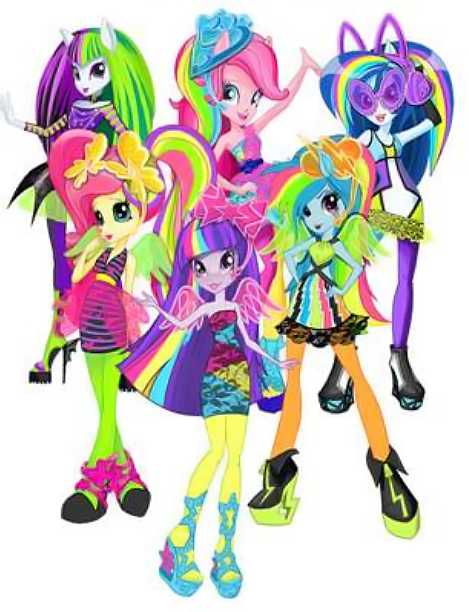 My Little Pony clipart rainbow rock Merch + EqG Pony My