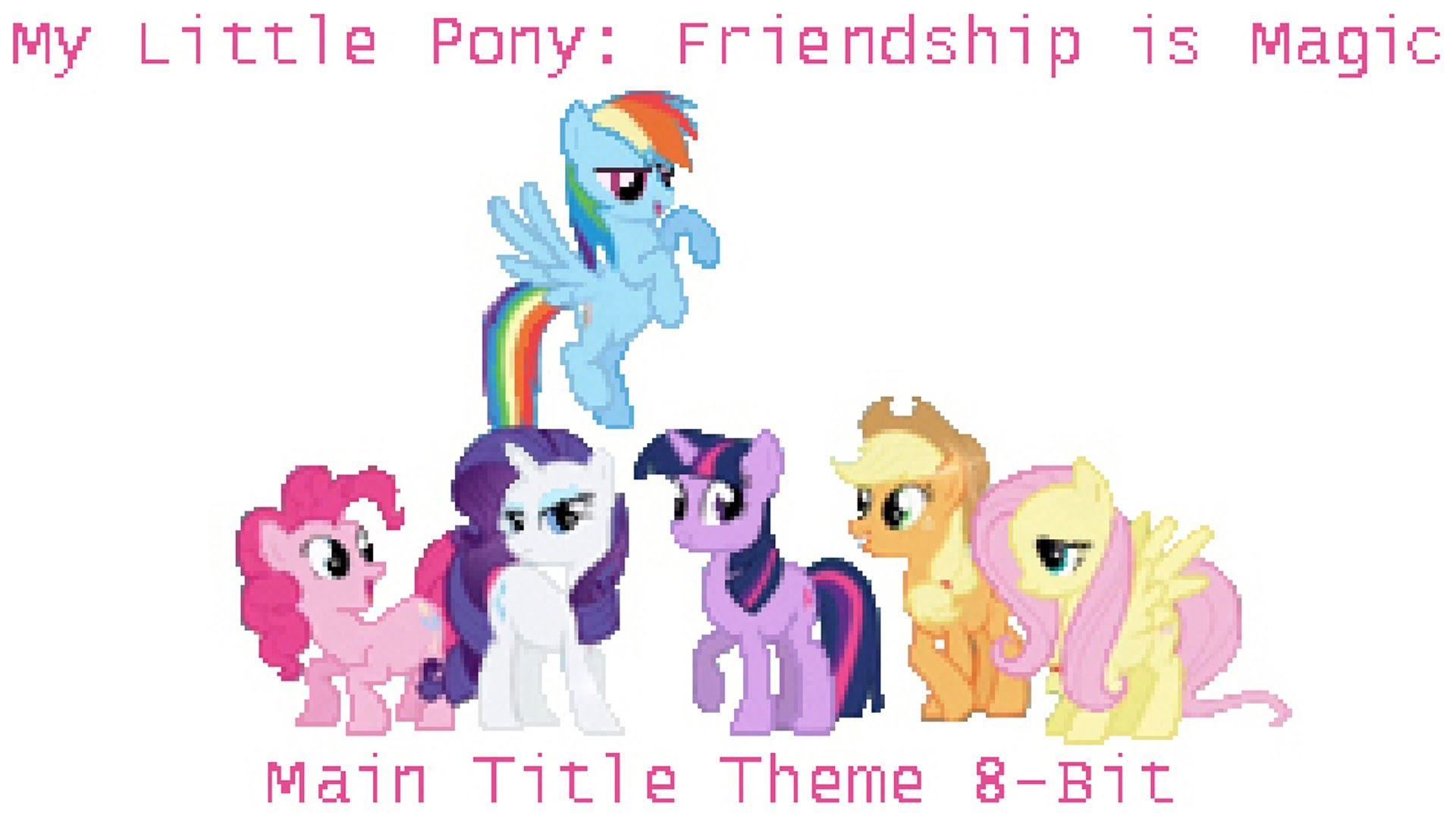 My Little Pony clipart title Pony: Main is 8 Little