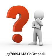 Mystery clipart confused person Question mark thinker 3d question