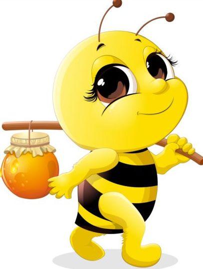 Bee vectors set https://www lovely