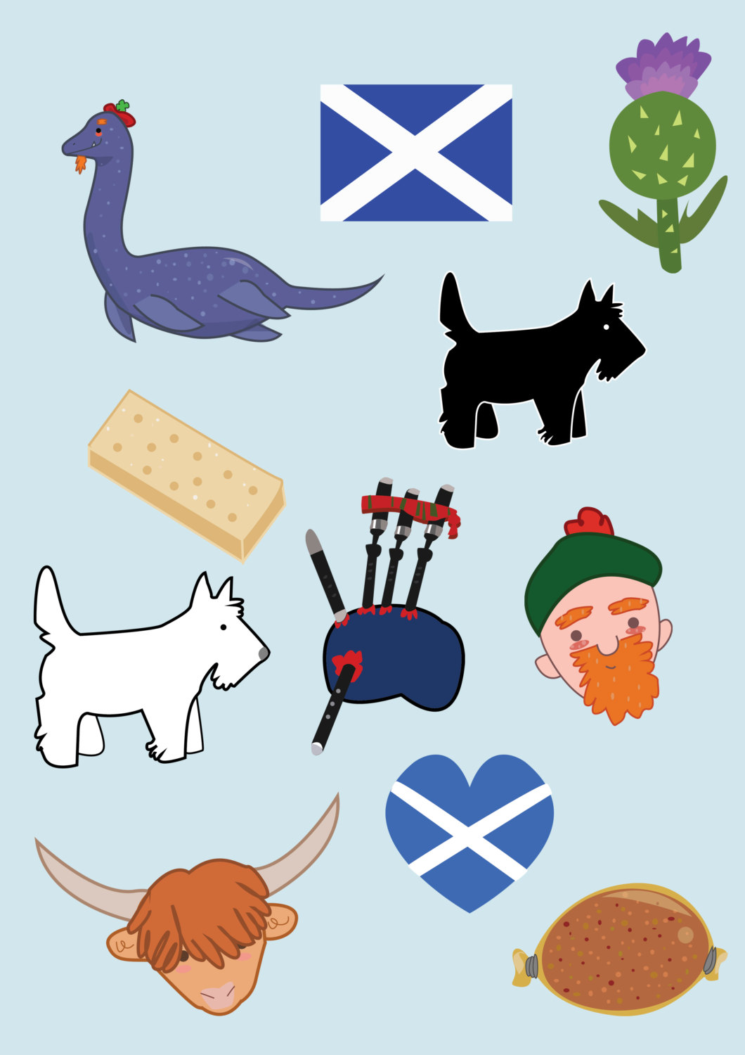 Cow clipart scottish Loch file art Clipart monster
