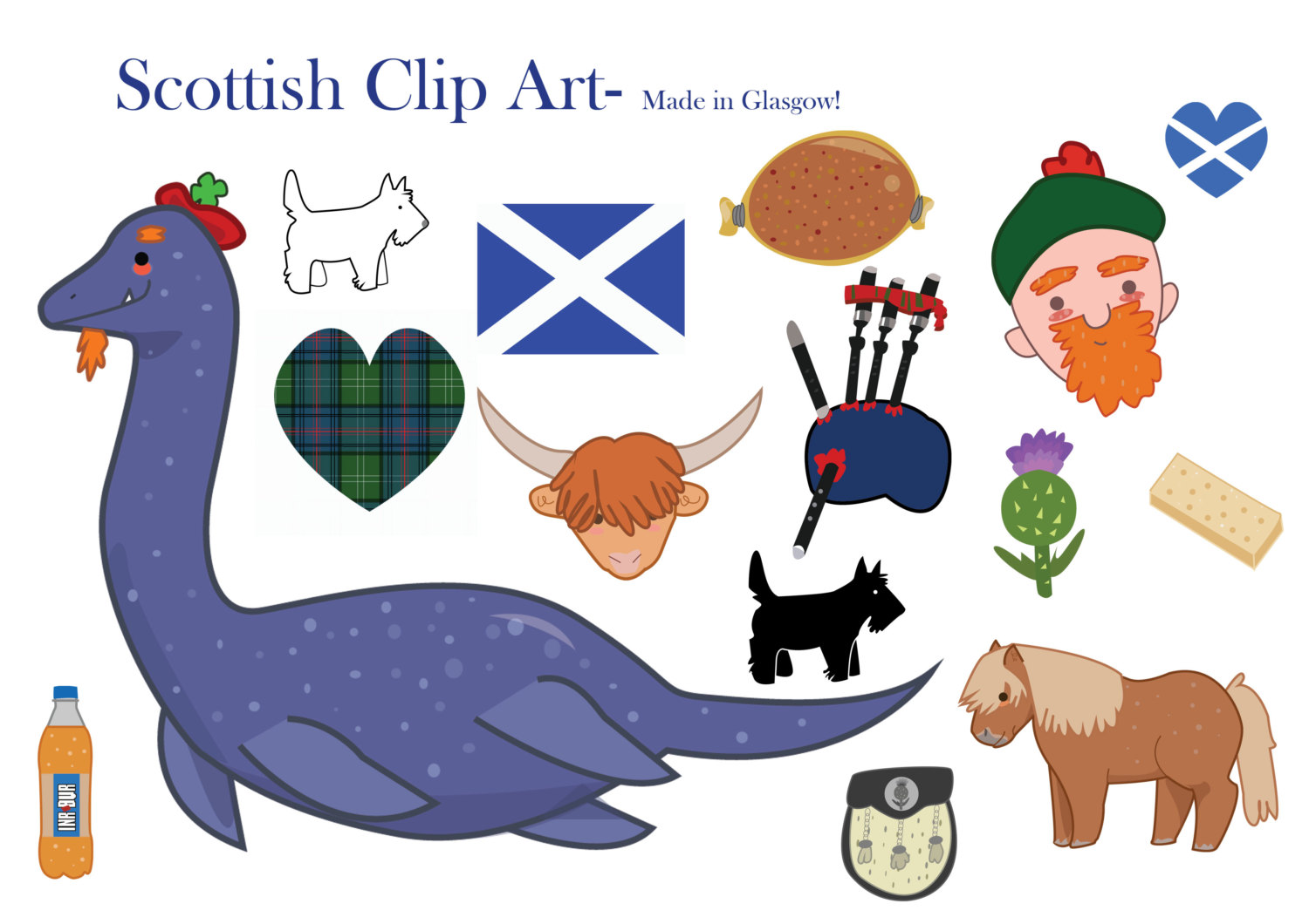 Warhammer clipart scottish Scotland digital art clip This