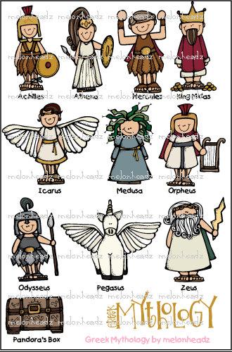 Gods clipart greek mythology Art Greek Mythology clip art