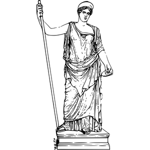 Mythology clipart greek statue Greek externalsource Hera clip_art svg