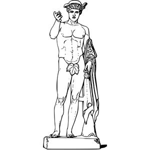 Mythology clipart greek statue Greek externalsource of clip_art svg