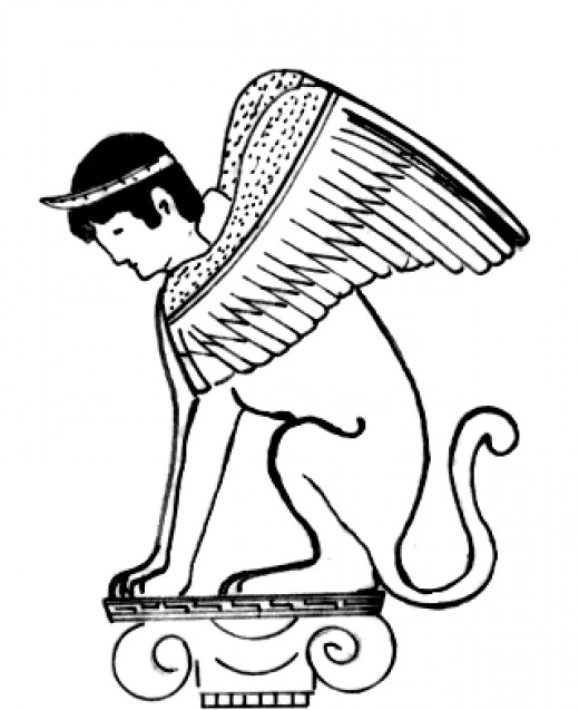 Mythology clipart sphinx Zone Free Creatures Cliparts Oedipus