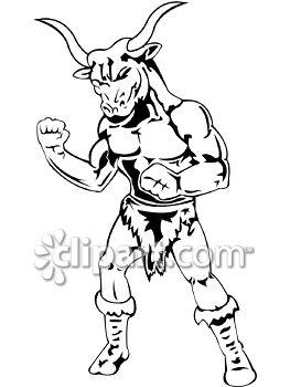 Beast clipart bull Frightening powerful Demo vinyl man