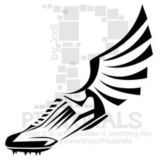 Mythology clipart track foot Vector by file  and