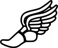 Mythology clipart track foot Field of winged clip And