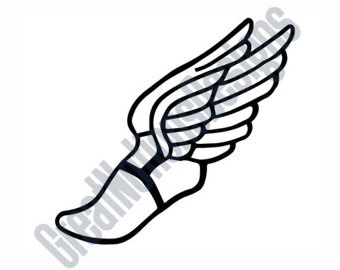 Mythology clipart winged foot Etsy SVG Cutting Clip Art