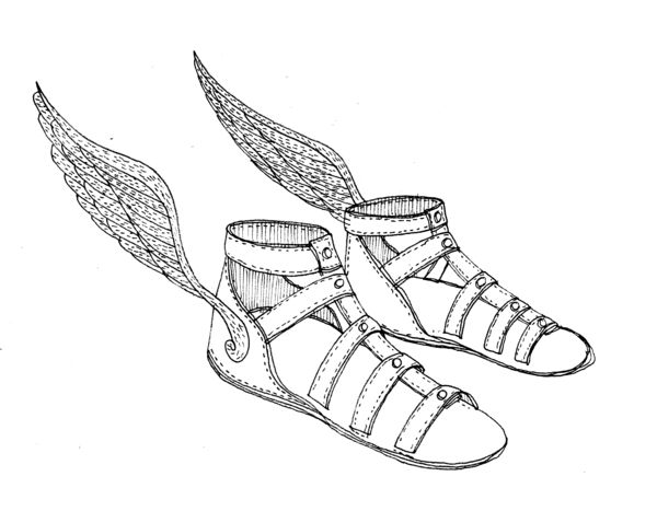 Sandal clipart ancient greek Greek sandals Winged clipart collection