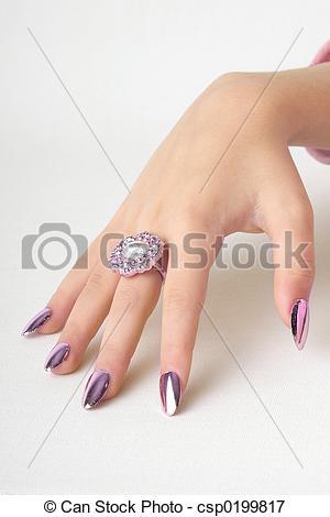 Nail clipart beautiful hand #11