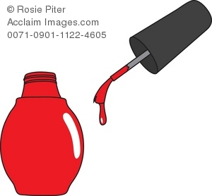 Nail clipart nail paint Illustration Nail Polish Red Bottle