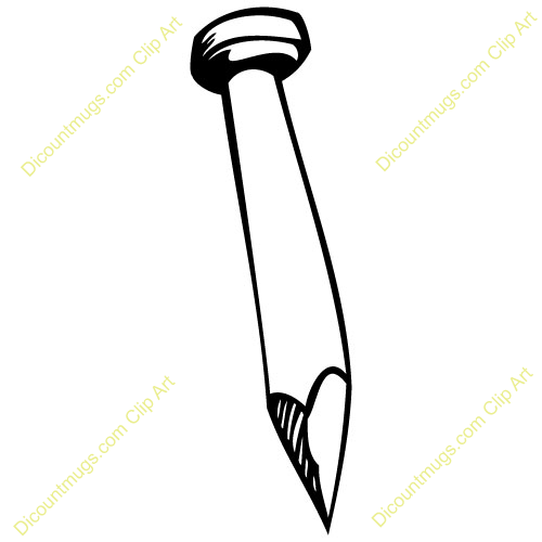Nail clipart outline #9