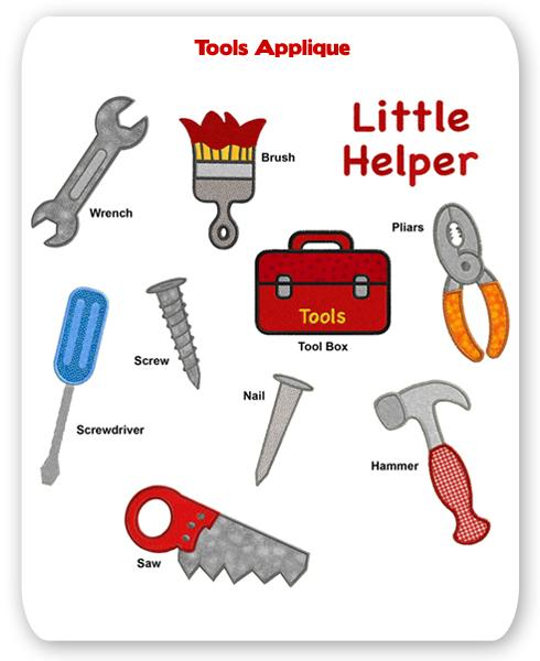 Designs Screwdriver Applique Screw Tool