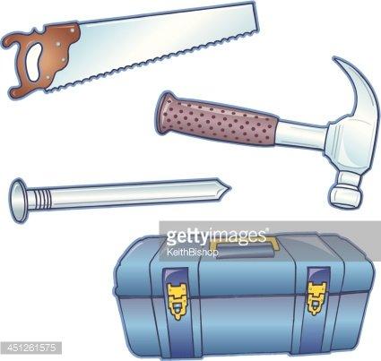 Saw Hammer Hammer premium clipart