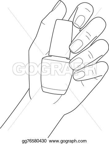 Nail clipart female hand Polish nail EPS Vector nail