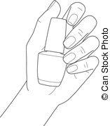 Nail clipart female hand Clipart Hand  polish holding