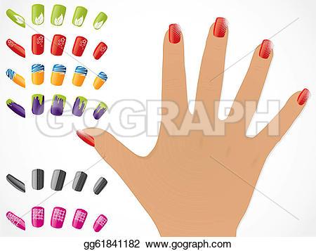 Nail clipart female hand Nails  gg61841182 EPS glossy