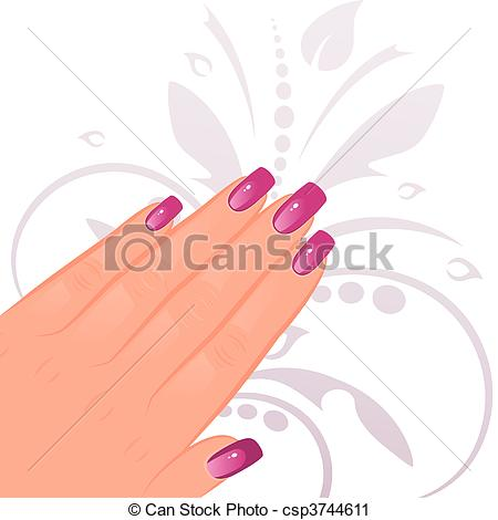 Nail clipart female hand Of with Female Art Vector