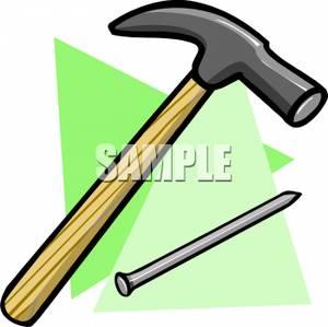 Nails clipart hammer Long Image: and Nail Long