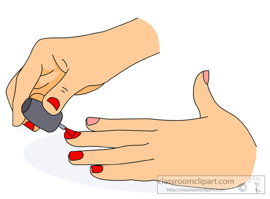 Nails clipart hand nail With clipart Vector woman