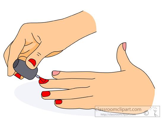 Nails clipart hand nail Vector clipart hand Vector woman