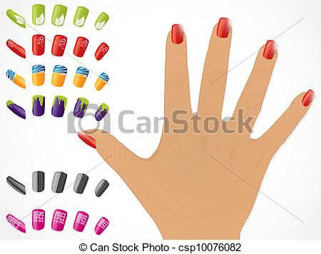 Nails clipart hand nail Female csp10076082 with with Female