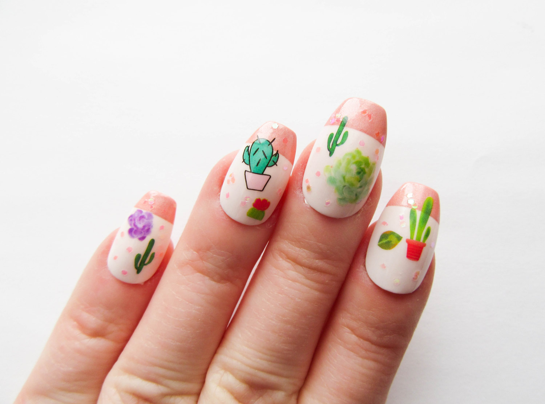 Nails clipart nail care / 24 / Press Fake