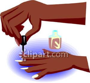 Painting clipart fingernail Clipart cartoon painting clip hand