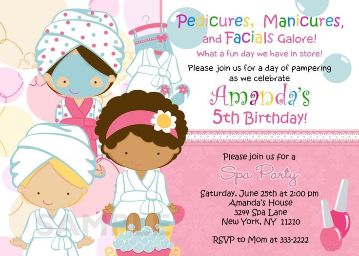 Nail clipart pamper party 25+ Invitations Birthday Spa best