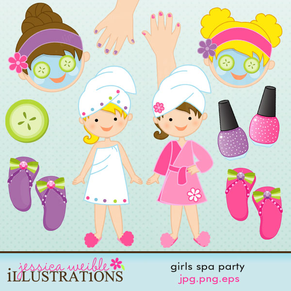 Nails clipart pamper party OK Clipart OK Party Spa