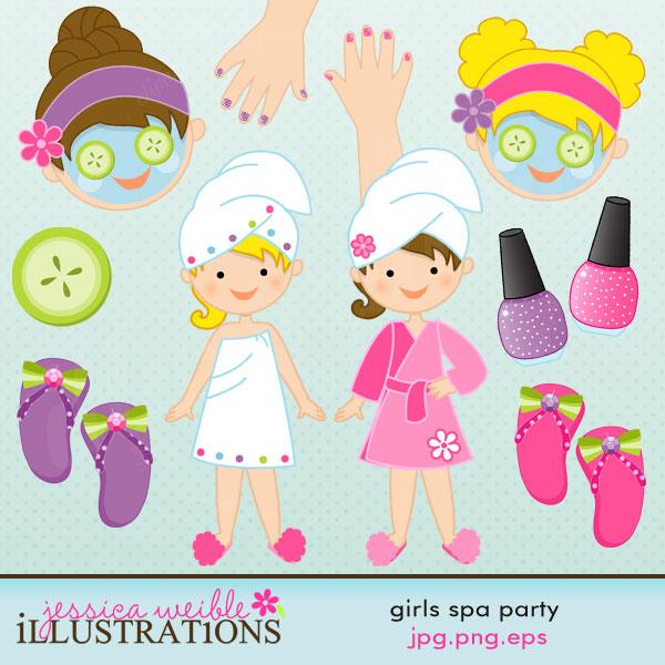 Nails clipart pamper party OK art Cute Spa Cute