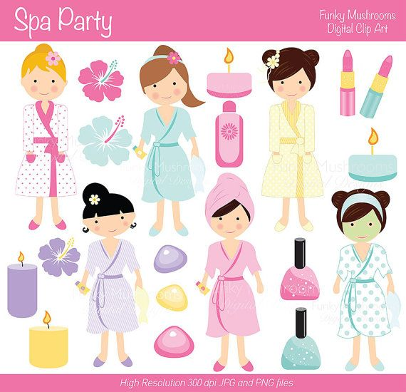 Nail clipart pamper party Other Invitations party Spa Clipart