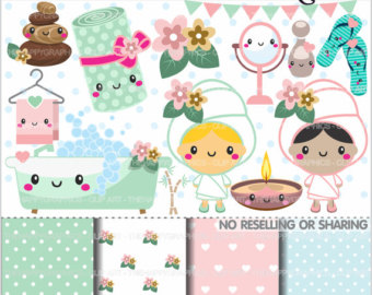 Nails clipart pamper party Party Spa party Clipart girl