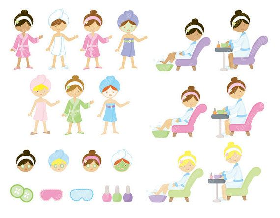 Nail clipart pamper party About Art Girls party Spa