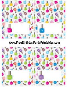 Nails clipart pamper party Polish Birthday Pamper Polish Nail