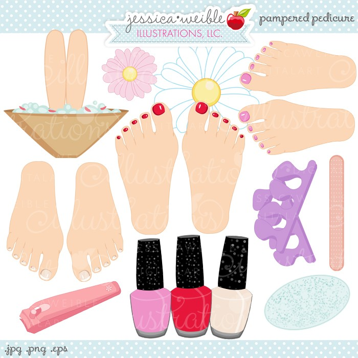 Nails clipart pedicure Cute Illustrations Clipart JW graphics