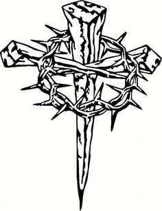 Thorns clipart crown thorns Of Cross Thorns Vinyl with